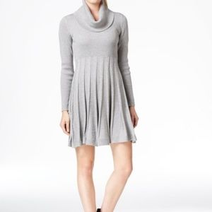 Calvin Klein Lurex Cowl Neck Sweater Dress